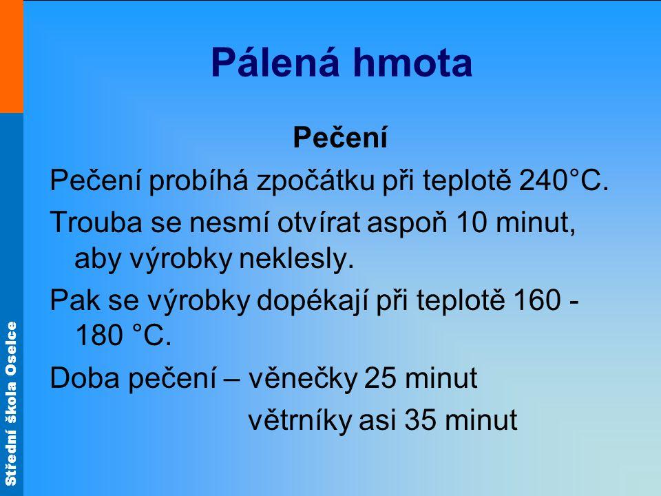 Střední škola Oselce Pálená hmota Pečení Obr.27