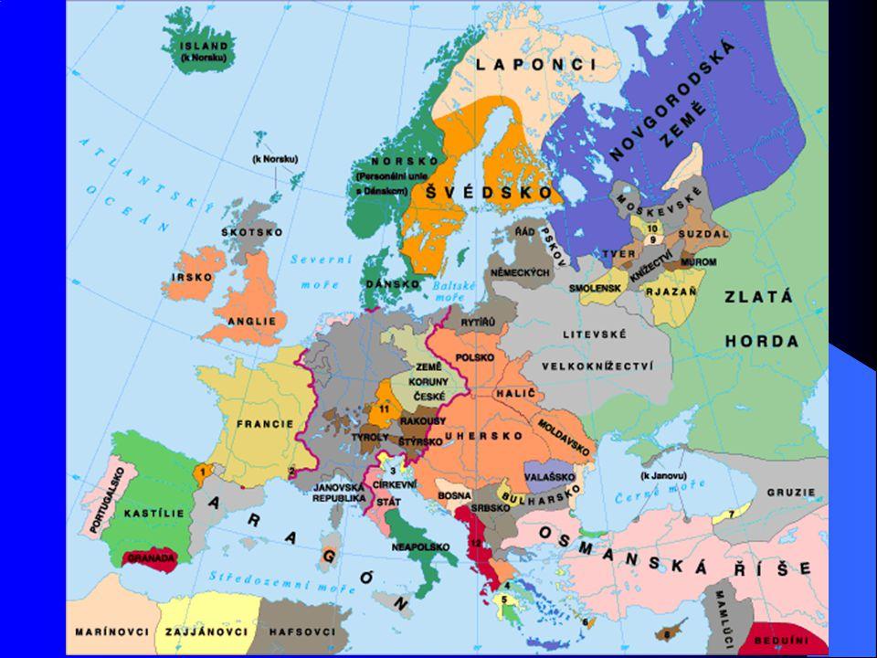 Španělsko 1469 – Isabela Kastilská + Ferdinand Aragonský = základ sjednocení Kastilie a Aragonie Proces sjednocování dokončen 1479 Společný boj proti Arabům (Maurům) – Granada dobyta 1492 Přístup Španělů k moři – možnost zahájit dálkové plavby Zde značný náskok Portugalska – již 1418 objevují Madeiru a plují podél afrických břehů