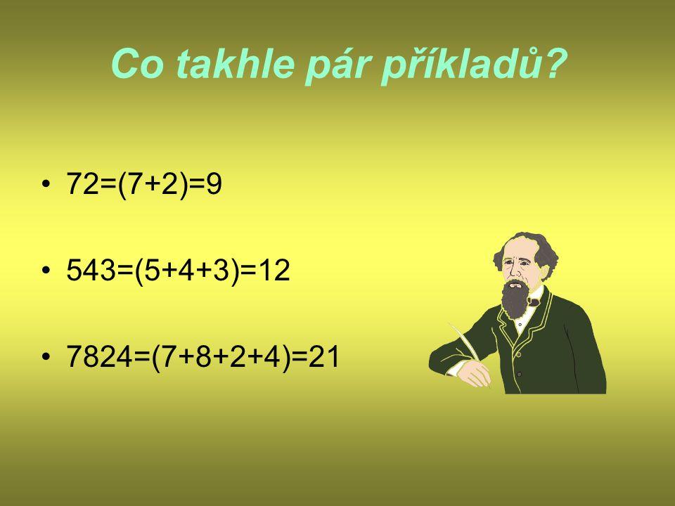 Znak dělitelnosti číslem 3. Číslo je dělitelné 3, je-li jeho ciferný součet dělitelný 3.