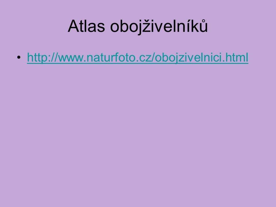 Atlas obojživelníků http://www.naturfoto.cz/obojzivelnici.html