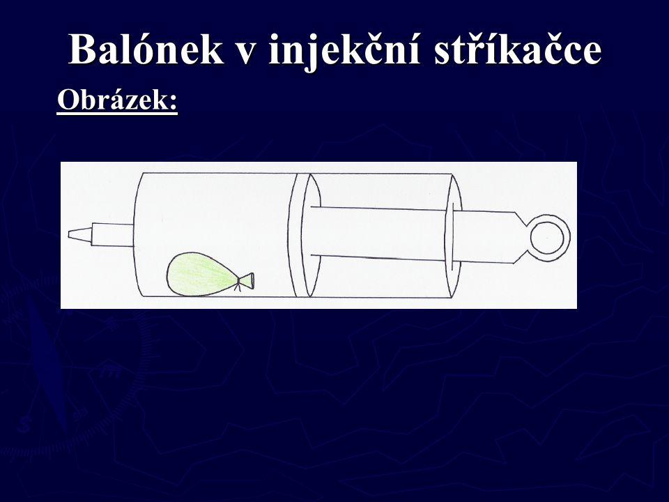 Balónek v injekční stříkačce Obrázek: