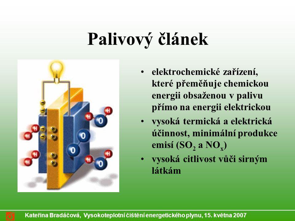 Kateřina Bradáčová, Vysokoteplotní čištění energetického plynu, 15.