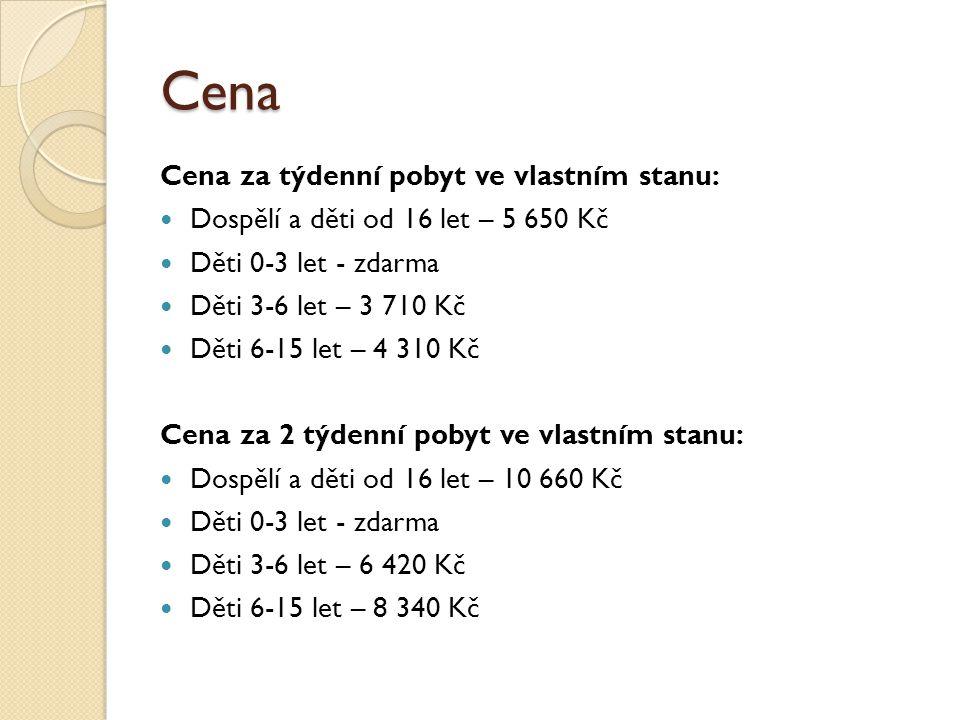 Cena zahrnuje: Ubytování ve 4-6 lůžkových chatkách, případně vlastních stanech Pobytová taxa Polopenze Celodenní pitný režim Korutanská 7/14 denní karta 2x za týdenní pobyt výlet na raftech s českými instruktory Cena nezahrnuje: Doprava Cestovní pojištění Povlečení Cena