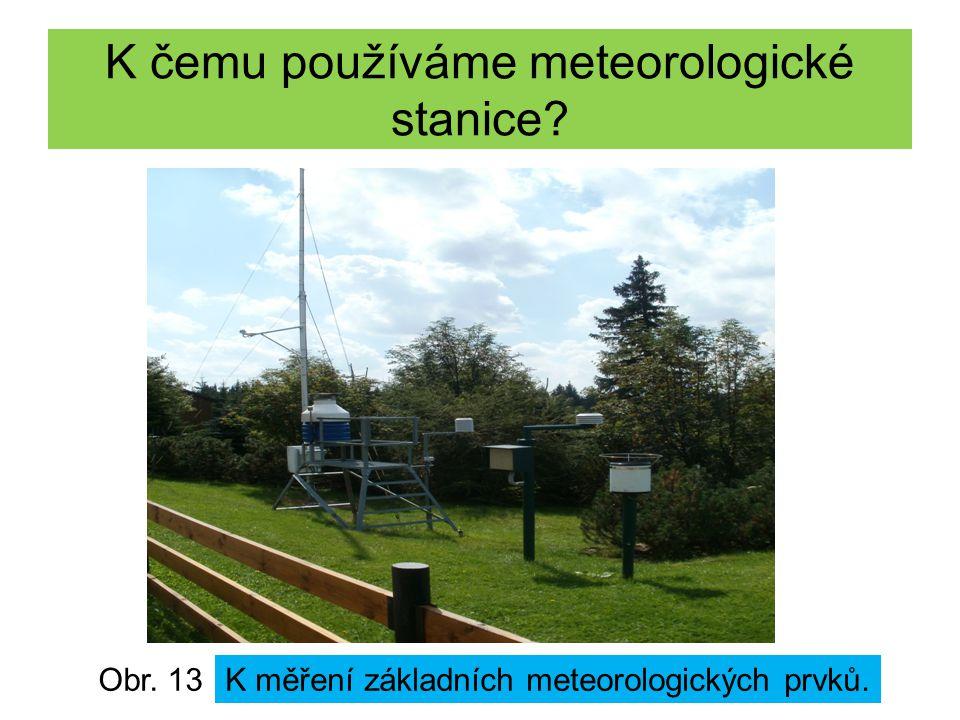 K čemu používáme meteorologické stanice? Obr. 13K měření základních meteorologických prvků.