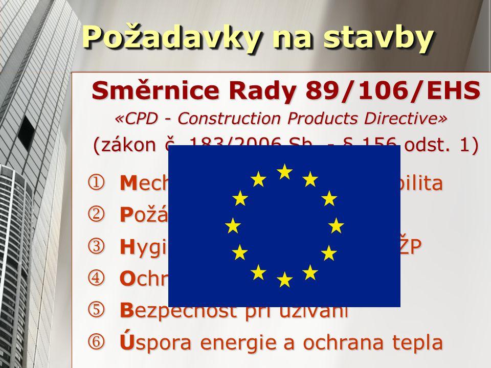 Směrnice Rady 89/106/EHS «CPD - Construction Products Directive» (zákon č.