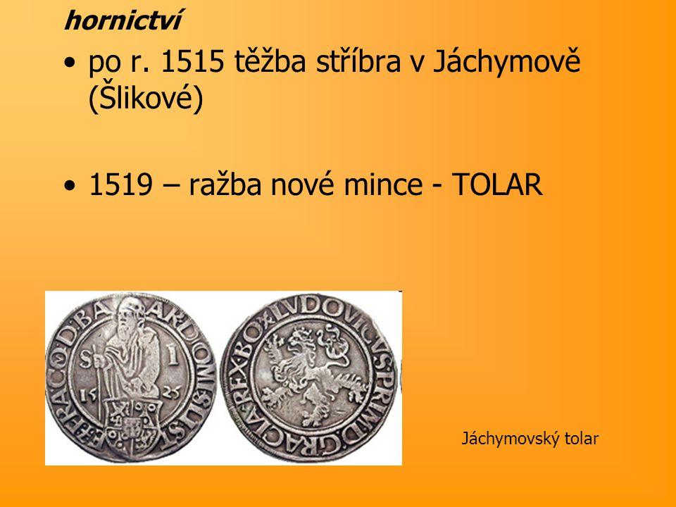 MĚSTA cechy – 2 nové obory – soukenictví, plátenictví  vývoz do Evropy zvyšování útisku poddaných – vzpoury (1498 - Dalibor z Kozojed - Litoměřicko)