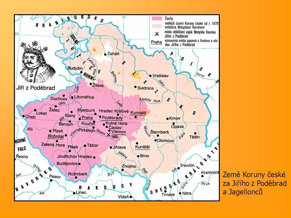 1478-9 - OLOMOUCKÉ DOHODY rozdělení moci – Vladislav (Čechy), Matyáš (Morava, Slezsko, Lužice) 1490 – smrt Korvína  Vladislav ovládá území Koruny české i Uhry – ČESKO-UHERSKÁ PERSONÁLNÍ UNIE (do r.