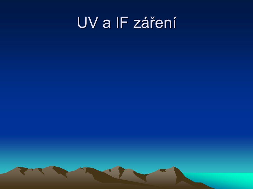 UV a IF záření