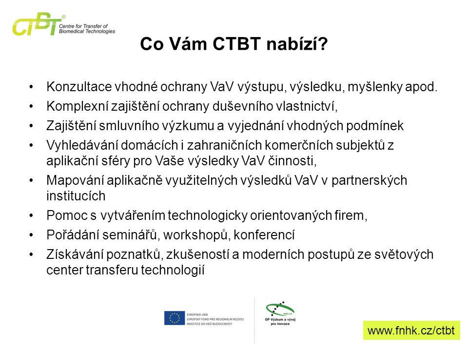 Co Vám CTBT nabízí. Konzultace vhodné ochrany VaV výstupu, výsledku, myšlenky apod.