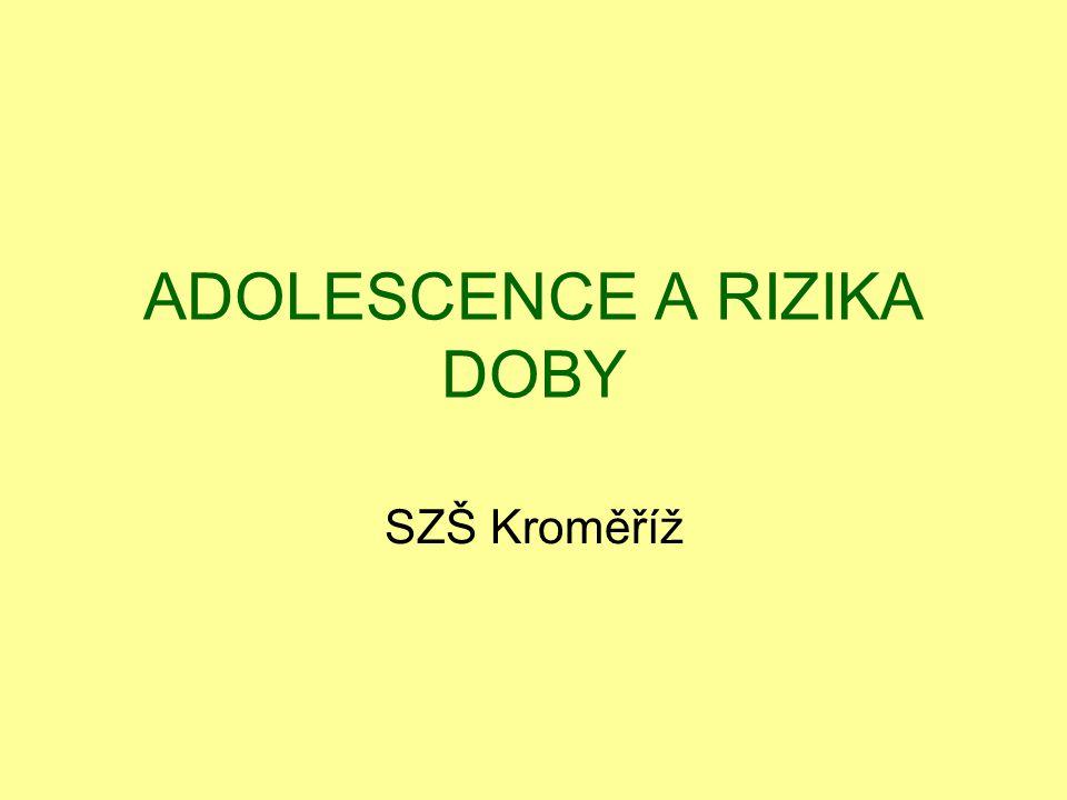 Adolescence Emoce Silné zážitky, nadšení, potřeba úspěchu a jeho prezentace Sociální situace Nová sociální pozice.