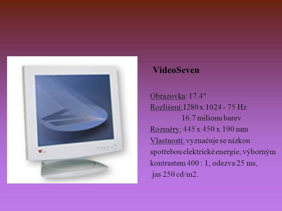 VideoSeven Obrazovka: 17.4