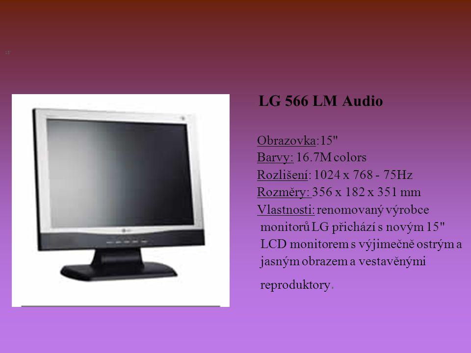 LG 566 LM Audio Obrazovka:15