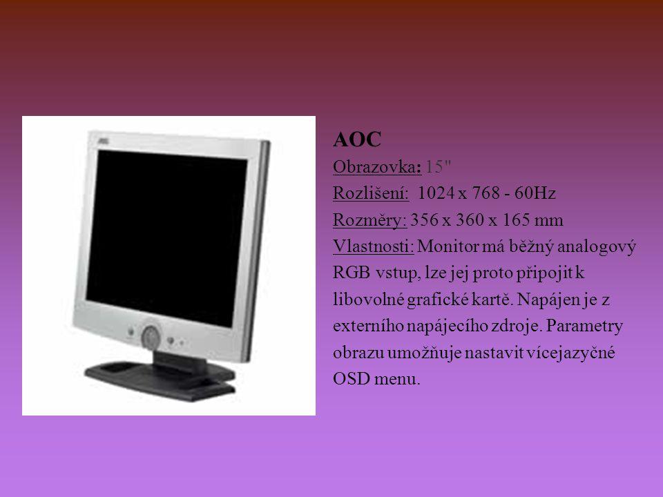 AOC Obrazovka: 15