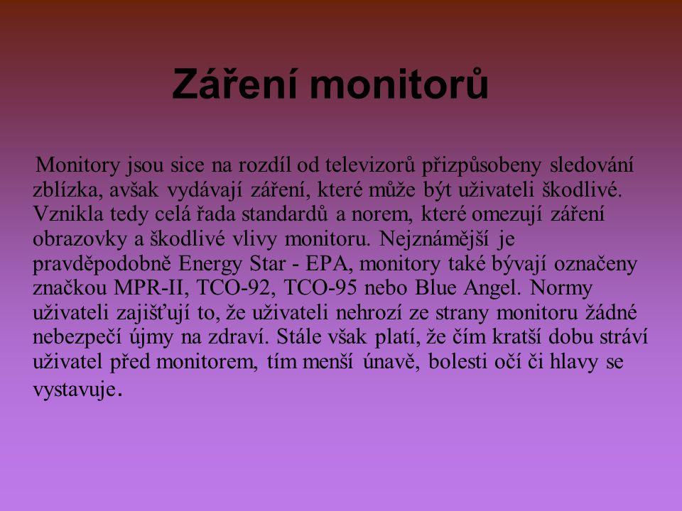 Frekvence U každého monitoru se udává: horizontální frekvence (řádkový kmitočet): měří se v kHz a udává, kolik řádku vykreslí elektronové svazky monitoru za jednu sekundu.
