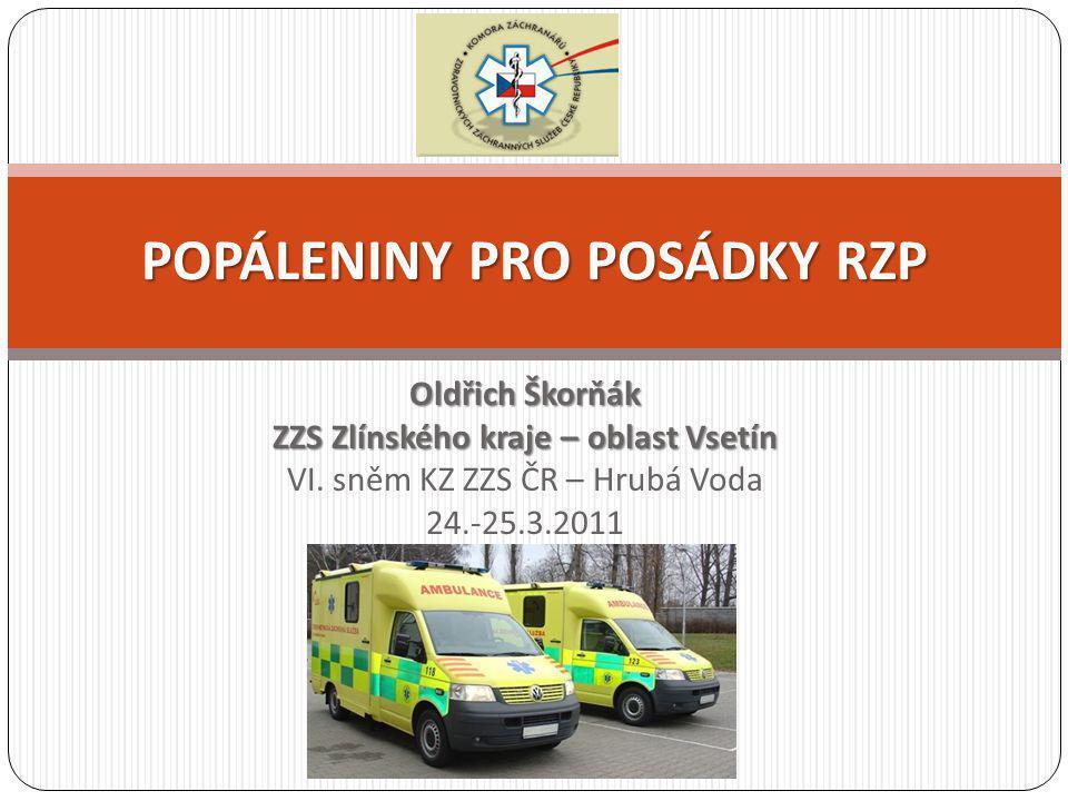 Oldřich Škorňák ZZS Zlínského kraje – oblast Vsetín VI. sněm KZ ZZS ČR – Hrubá Voda 24.-25.3.2011 POPÁLENINY PRO POSÁDKY RZP