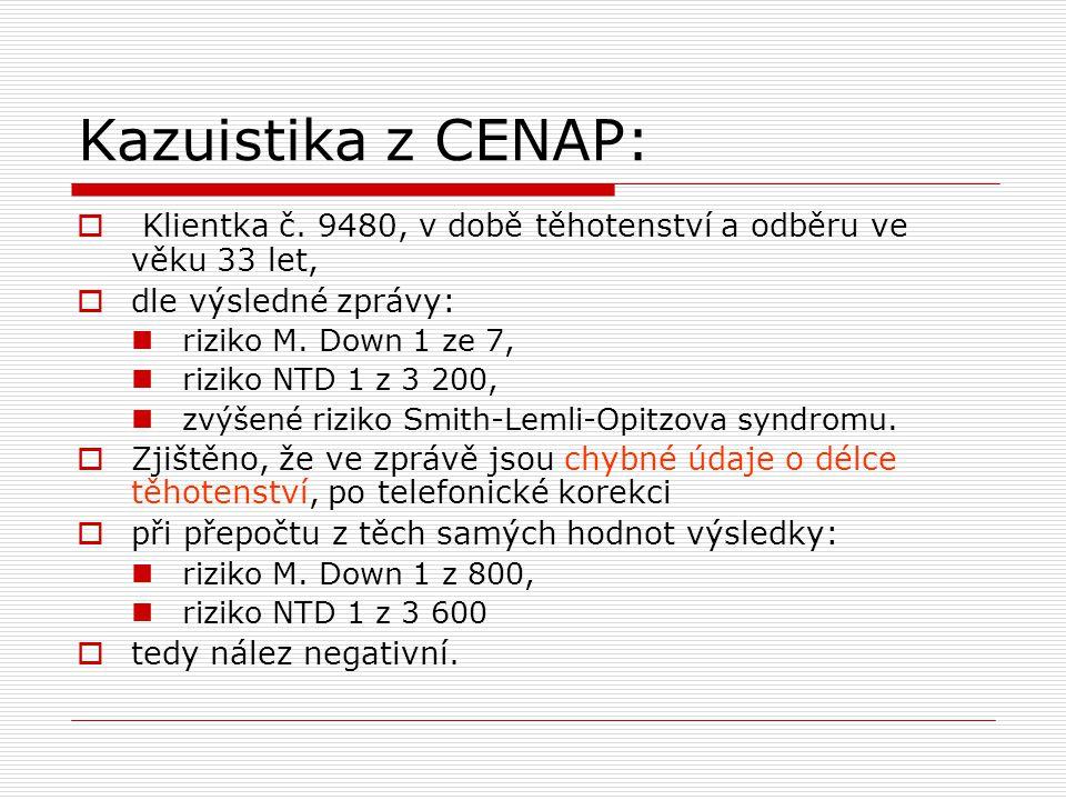 Kazuistika z CENAP:  Klientka č.