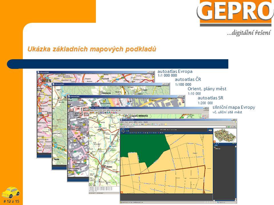 Přínosy užití MISYS-CAR : prostředek pro pomoc uživateli při plnění obtěžujících rutinních úkolů podpora přesnější a průkaznější evidence provozu vozidel kontrolní prostředek, sledující práci řidiče optimalizace využívání vozidel (zpětné vyhodnocení) při dispečerském řízení zjednodušení a zefektivnění operativního rozhodování v případě on-line možnost dohledání při odcizení (možné i slevy na pojistném) I při využití jen některých přínosů bývá návratnost systému kolem dvou let # 11 z 15
