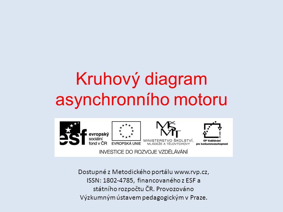 Kruhový diagram asynchronního motoru Dostupné z Metodického portálu www.rvp.cz, ISSN: 1802-4785, financovaného z ESF a státního rozpočtu ČR.