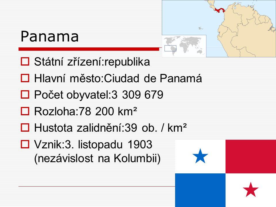 Hospodářství  Panamský průplav se zvětšuje a modernizuje-> kapitál, sníží nezaměstnanost  80%ekonomiky jsou služby!!.