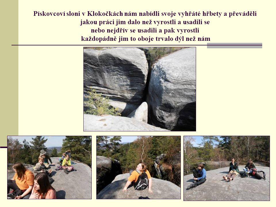 Průzkum skal jsme prováděli důkladně vylézali – prolézali – nakukovali – přeskakovali a … zjistili jsme, že je to tu skoro samej pískovec