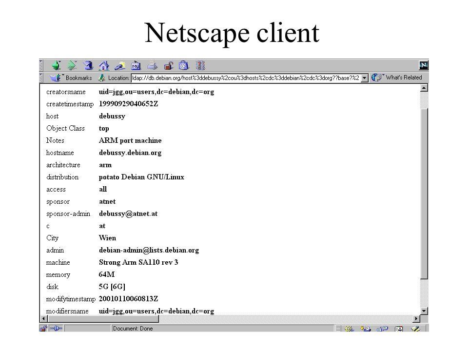27 Netscape client
