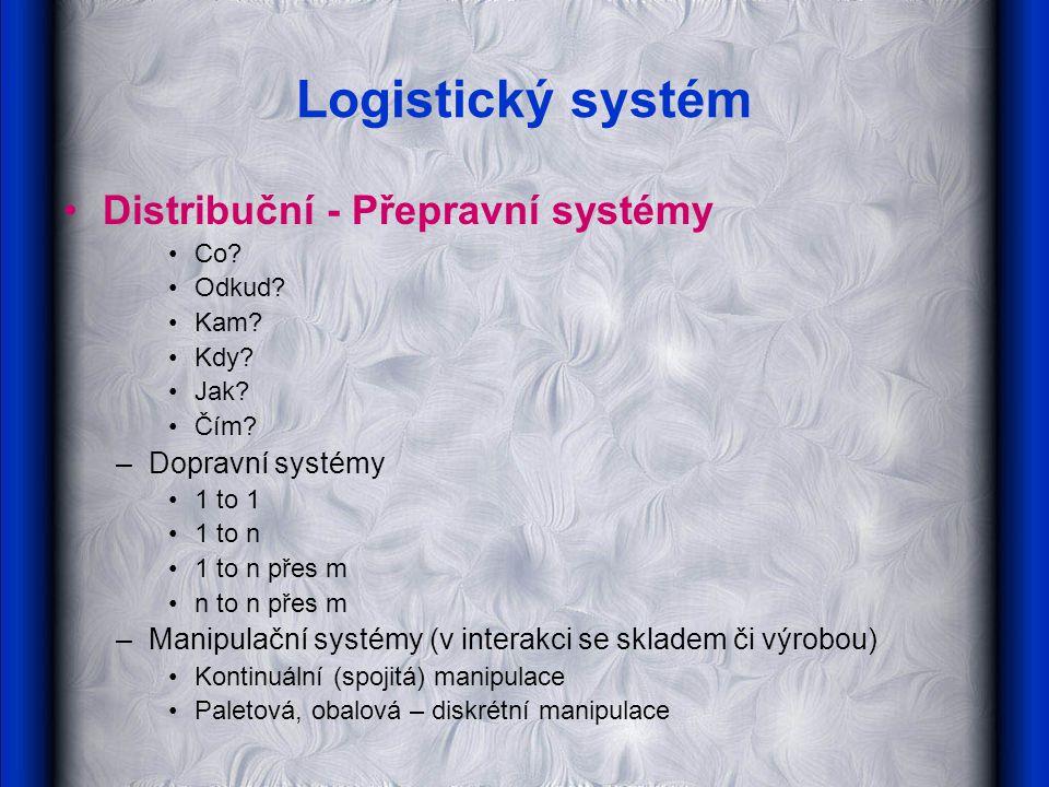 Logistický systém Distribuční - Přepravní systémy Co.