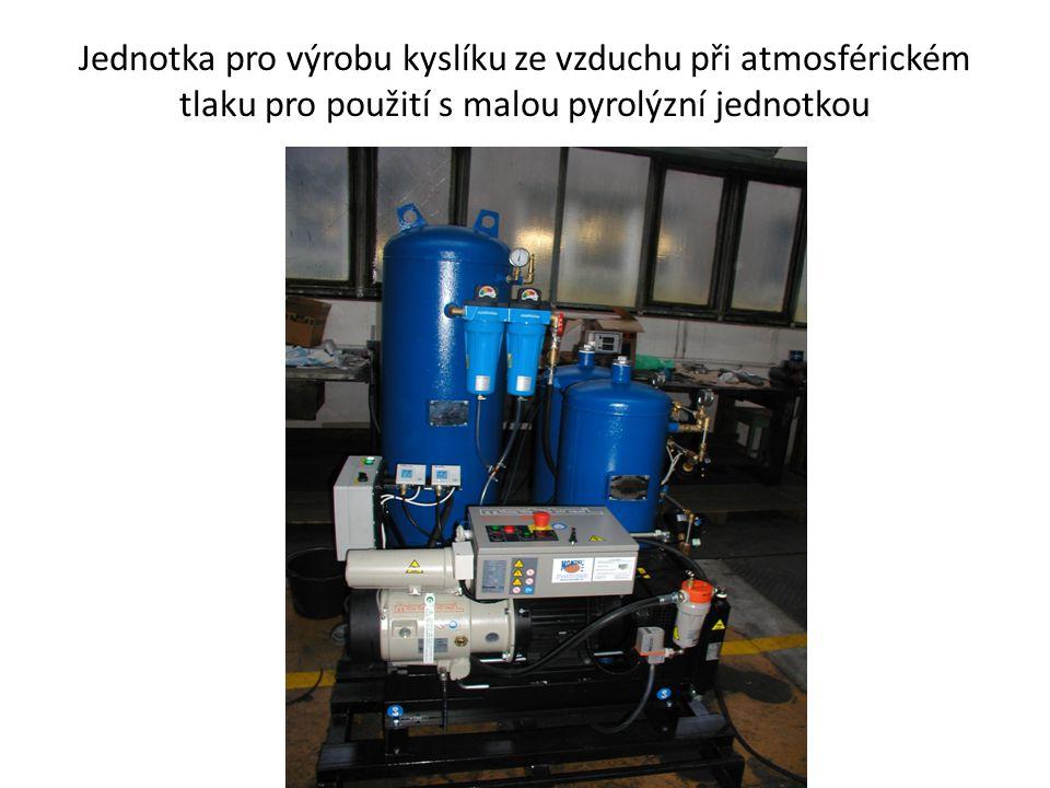 Jednotka pro výrobu kyslíku ze vzduchu při atmosférickém tlaku pro použití s malou pyrolýzní jednotkou