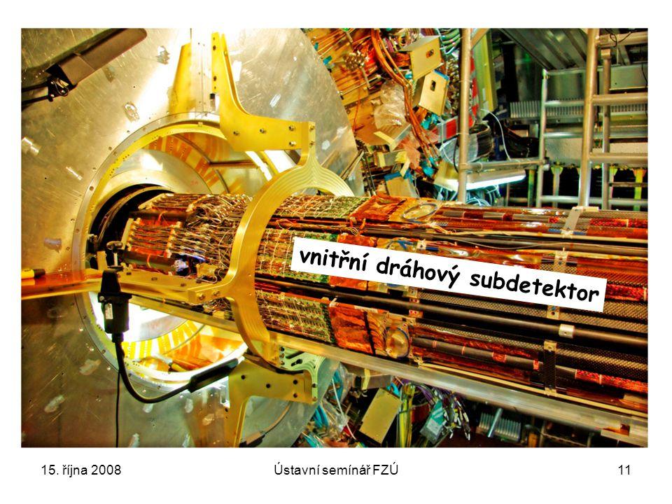 15. října 2008Ústavní semínář FZÚ11 vnitřní dráhový subdetektor