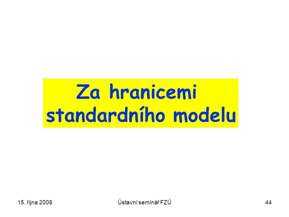 15. října 2008Ústavní semínář FZÚ44 Za hranicemi standardního modelu