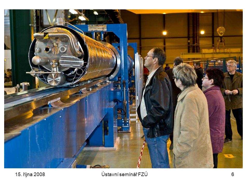 15. října 2008Ústavní semínář FZÚ7 Základní parametry LHC