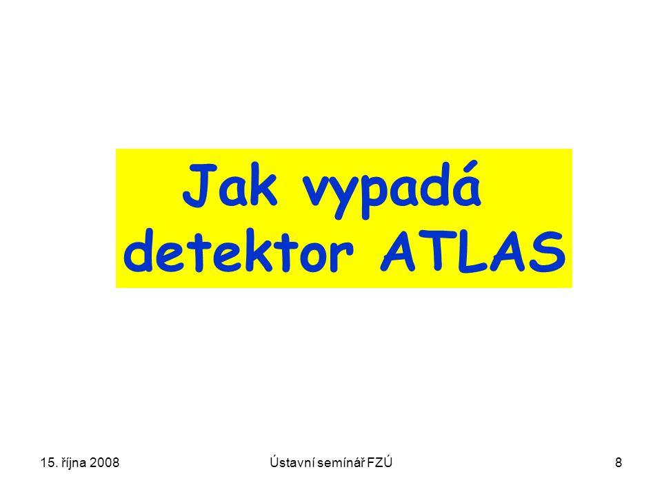 15. října 2008Ústavní semínář FZÚ8 Jak vypadá detektor ATLAS