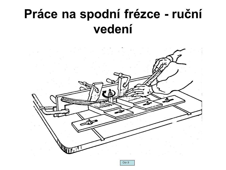 Práce na spodní frézce - ruční vedení Obr.9