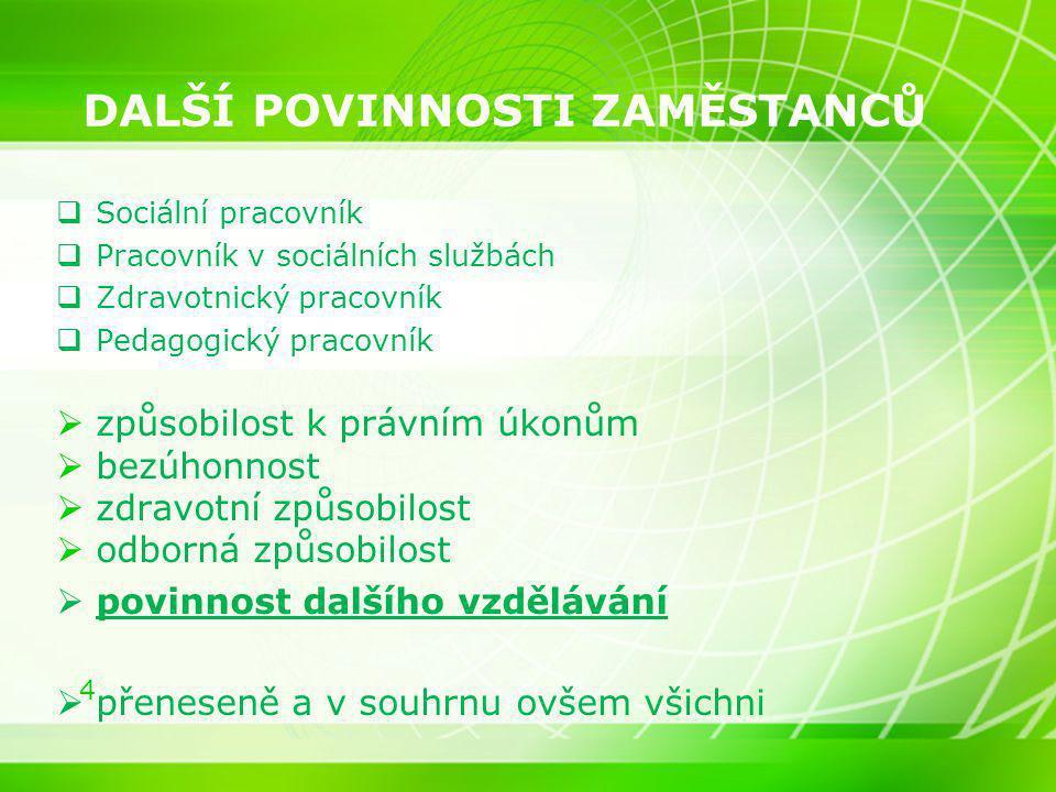 15 Nařízení vlády č.361/2007 Sb.