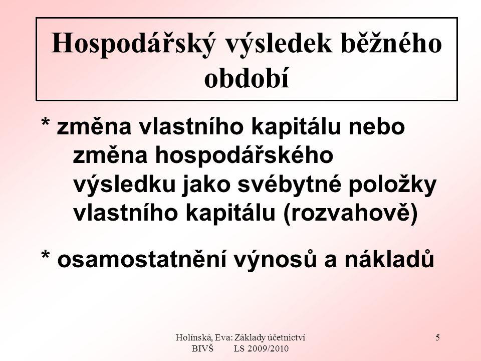Holínská, Eva: Základy účetnictví BIVŠ LS 2009/2010 16 Konečná rozvaha DHA590ZK1000 Mat.75HV30* Peníze365Dodav.0 Čas.r.30Zam.0 Σ1030