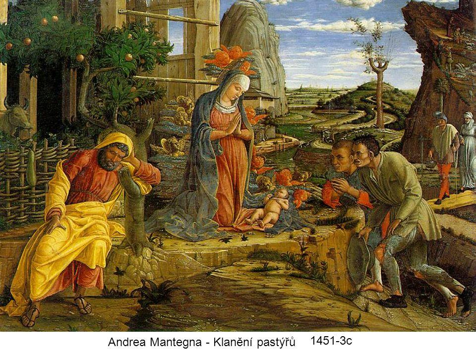 Andrea Mantegna - Klanění pastýřů 1451-3c