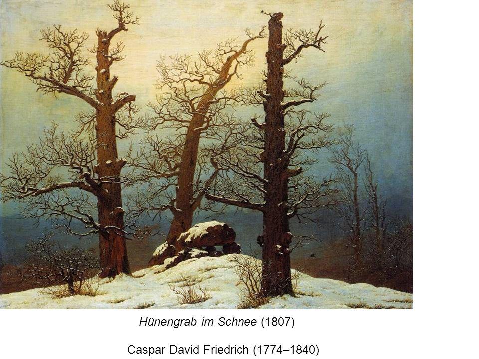 Hünengrab im Schnee (1807) Caspar David Friedrich (1774–1840)