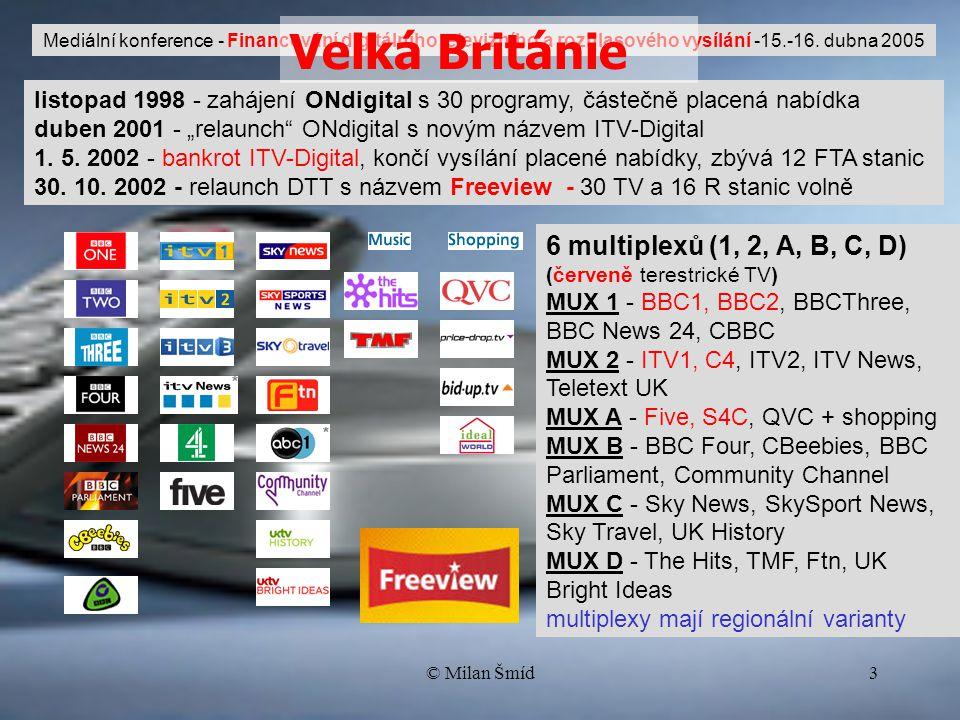 """© Milan Šmíd3 listopad 1998 - zahájení ONdigital s 30 programy, částečně placená nabídka duben 2001 - """"relaunch ONdigital s novým názvem ITV-Digital 1."""