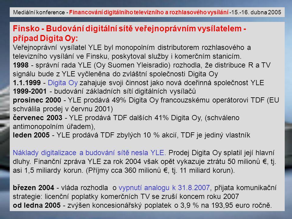 © Milan Šmíd9 Mediální konference - Financování digitálního televizního a rozhlasového vysílání -15.-16.
