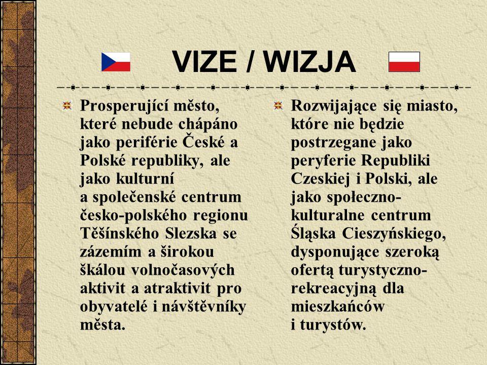 VIZE / WIZJA Prosperující město, které nebude chápáno jako periférie České a Polské republiky, ale jako kulturní a společenské centrum česko-polského