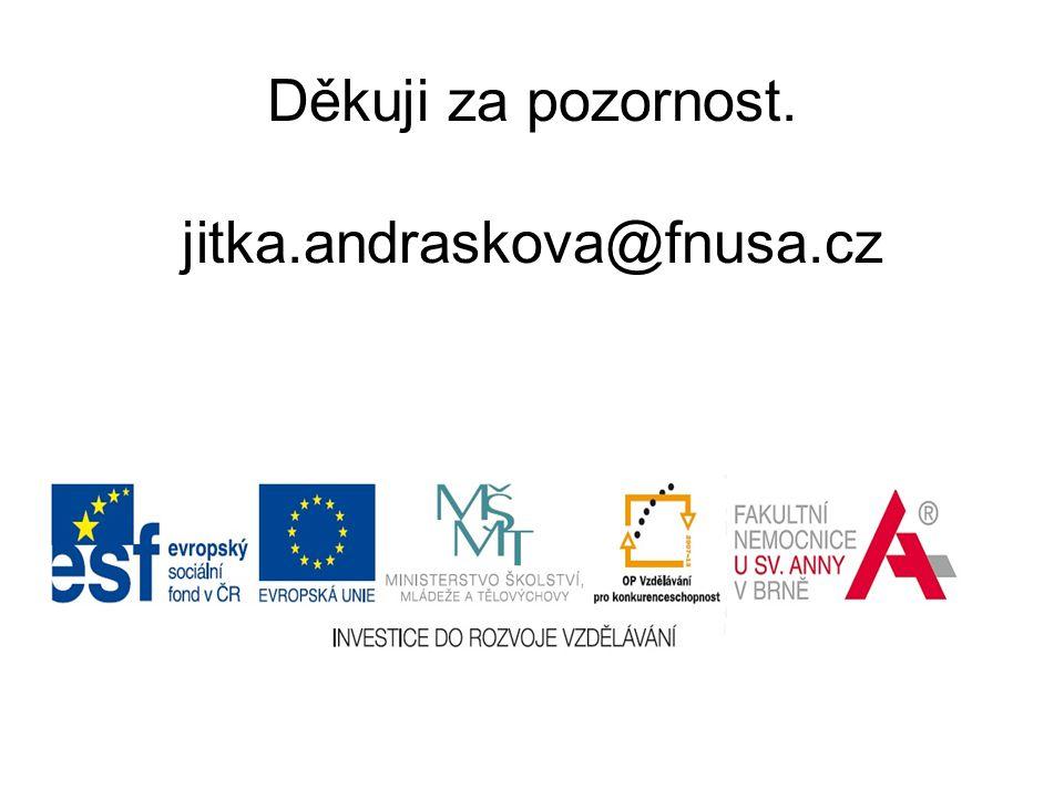 Děkuji za pozornost. jitka.andraskova@fnusa.cz
