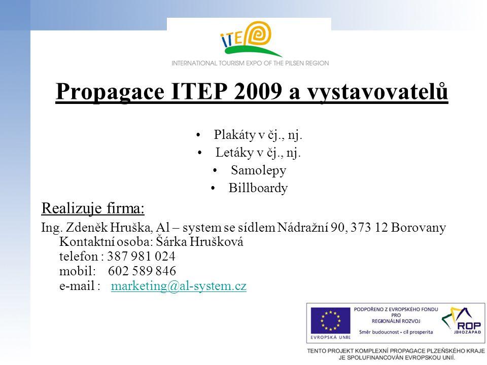 Otevírací doba ITEP 2009 Čtvrtek22.října 2009, 10:00 – 18:00 hod.