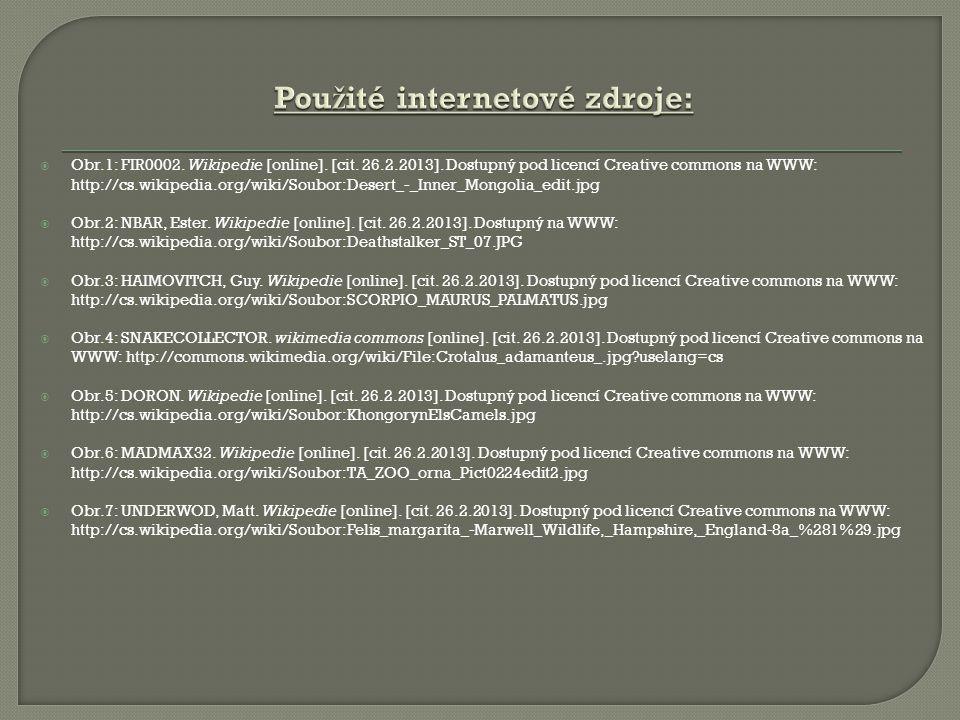  Obr.1: FIR0002. Wikipedie [online]. [cit. 26.2.2013]. Dostupný pod licencí Creative commons na WWW: http://cs.wikipedia.org/wiki/Soubor:Desert_-_Inn