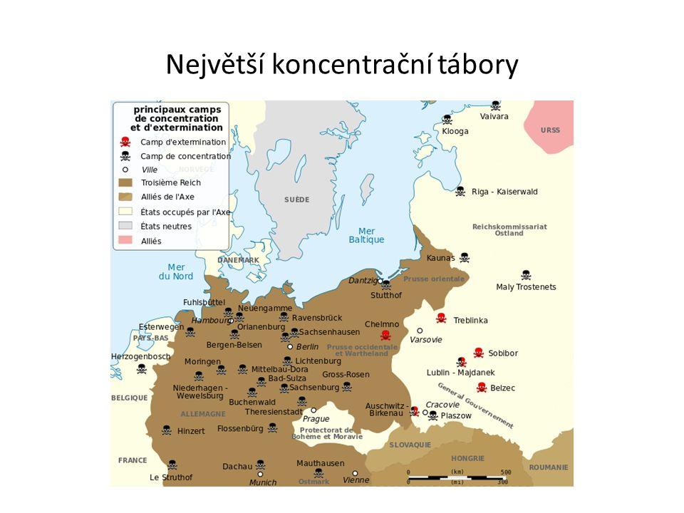 Největší koncentrační tábory