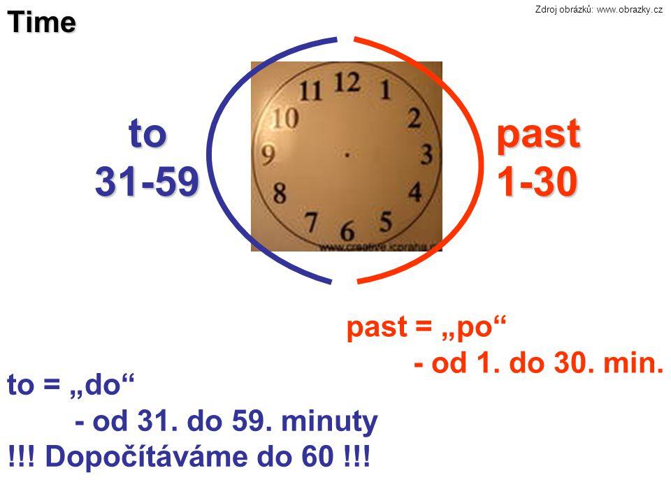 2.Čtvrt na… It is a quarter past ….. It´s a quarter past five.