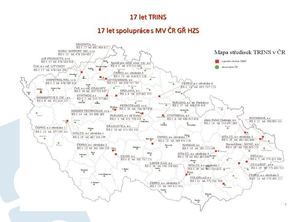 11 17 let TRINS 17 let spolupráce s MV ČR GŘ HZS
