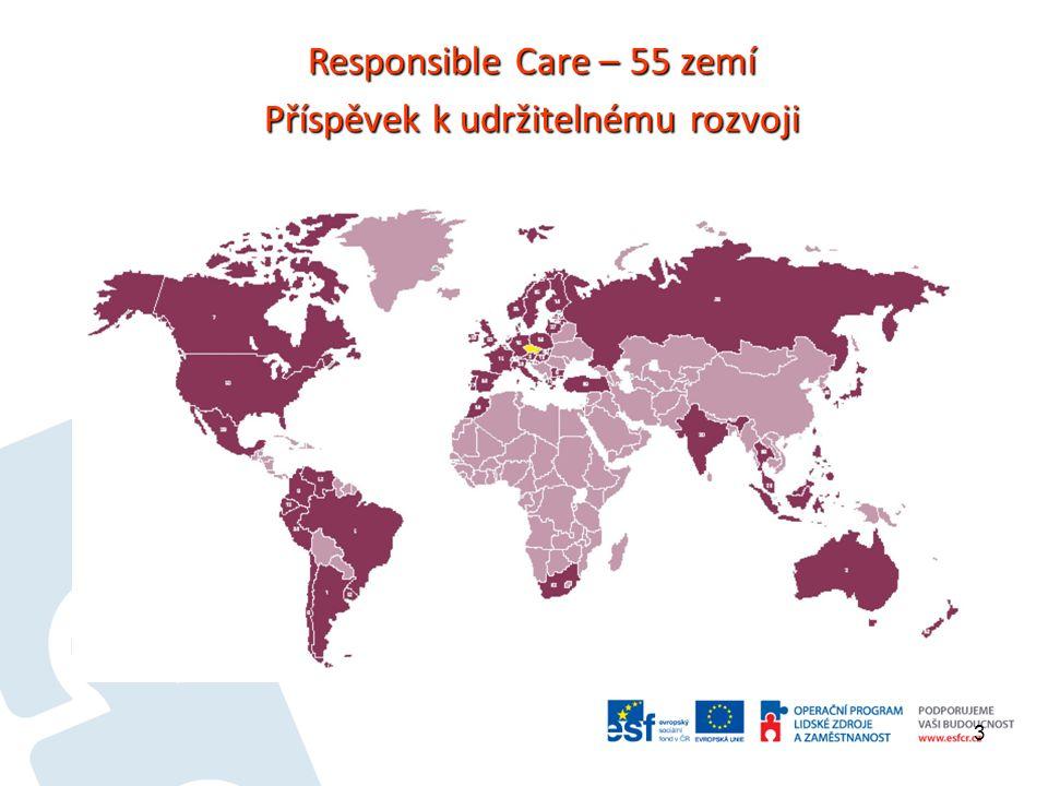 3 Responsible Care – 55 zemí Příspěvek k udržitelnému rozvoji