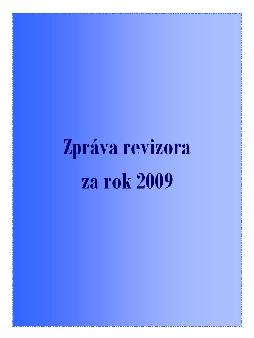 17 Zpráva revizora za rok 2009