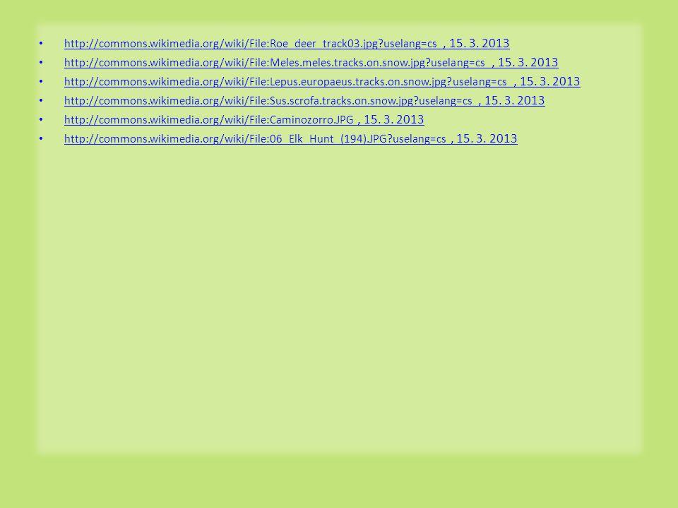 http://commons.wikimedia.org/wiki/File:Roe_deer_track03.jpg?uselang=cs, 15.