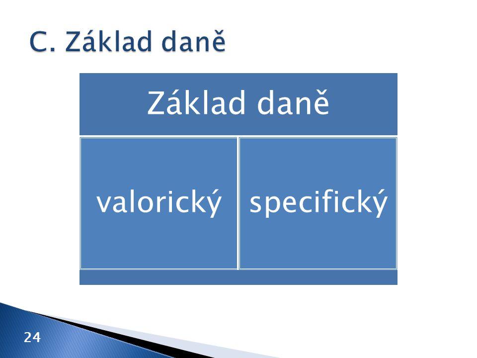 24 Základ daně valorickýspecifický