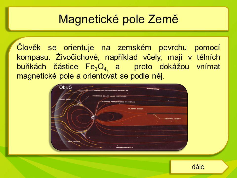Magnetické pole Země tvoří ochranný štít země.